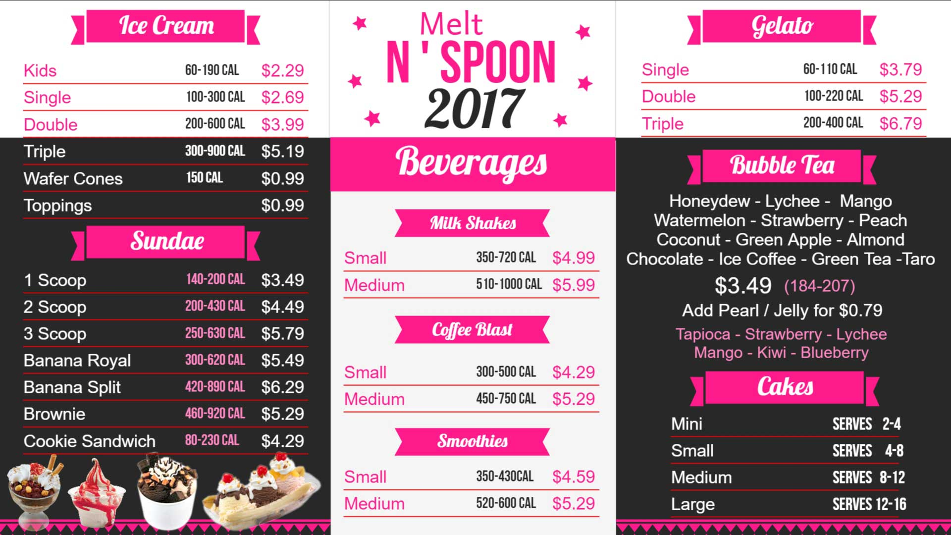 Melt-n-Spoon-digital-menu-board-in-Burien-Wa