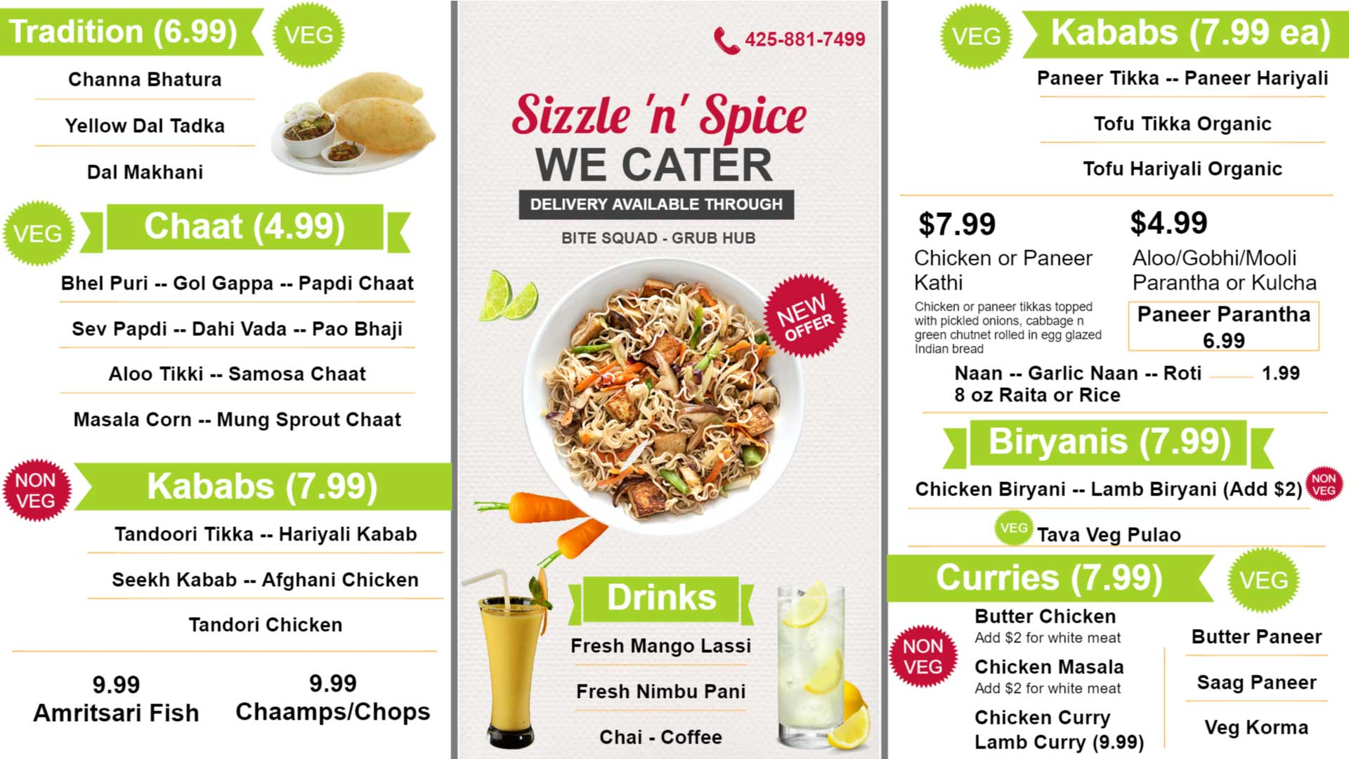 Sizzle-n-Spice-in-Digital-menu-board-Redmond-Wa